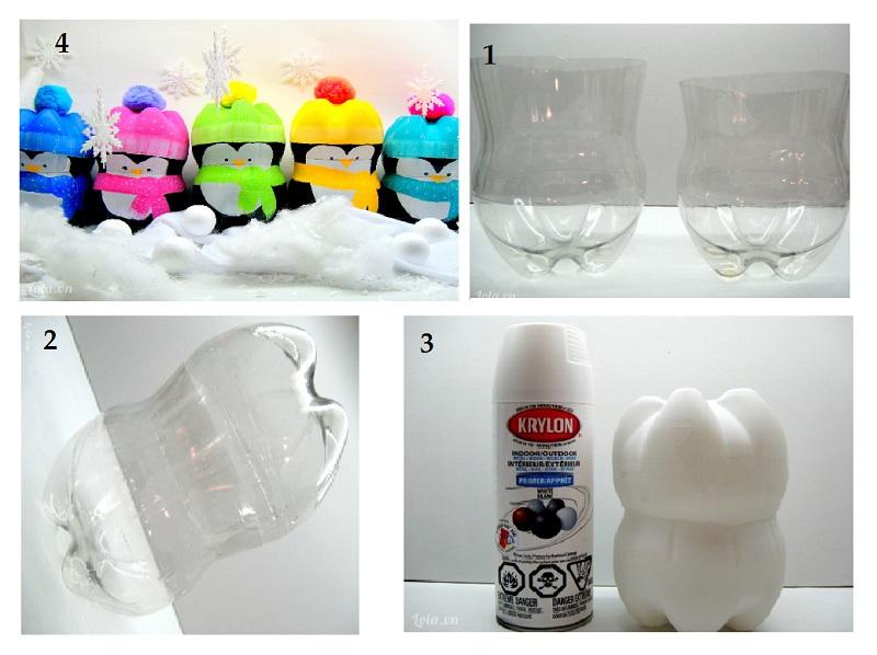 Làm búp bê bằng chai nhựa