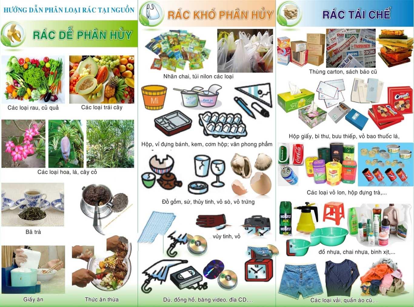 Các loại rác thải sinh hoạt phổ biến nhất hiện nay