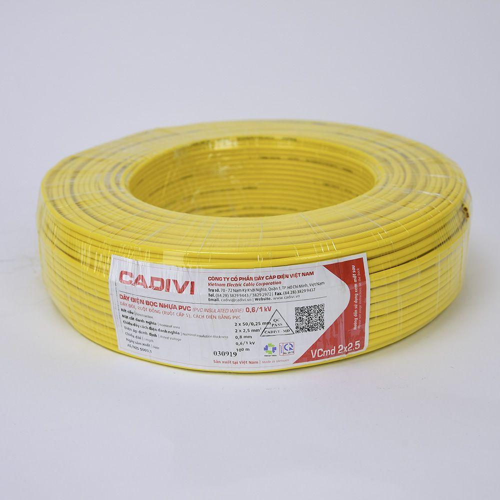 Dây cáp dây điện Cadivi và những thông số chi tiết