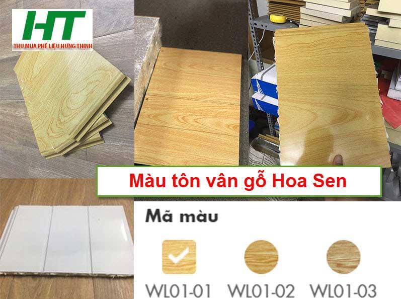 Màu tôn vân gỗ Hoa Sen