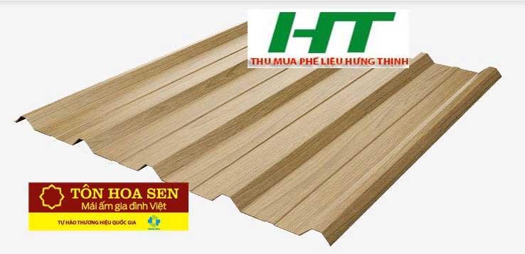 Tôn vân gỗ Hoa Sen có nhiều ưu điểm vượt trội về chất lượng, giá thành, mẫu mã