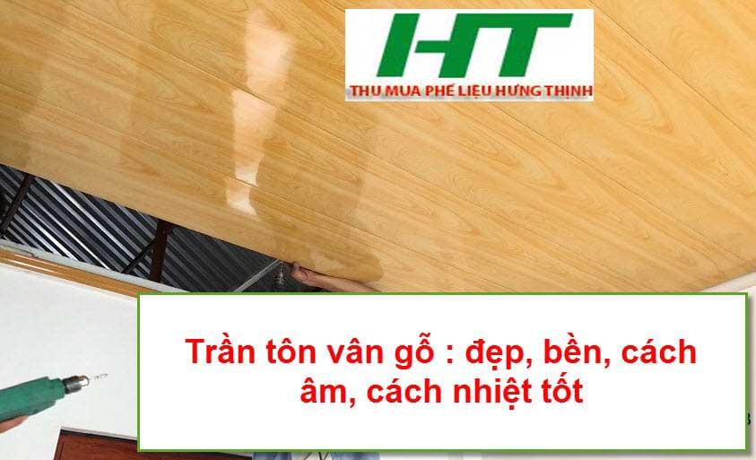 Trần tôn vân giả gỗ có nhiều ưu điểm vượt trội về độ bền, tính thẩm mỹ và khả năng chống nóng hiệu quả